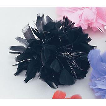 Clip di capelli nero piuma/Tinsel.