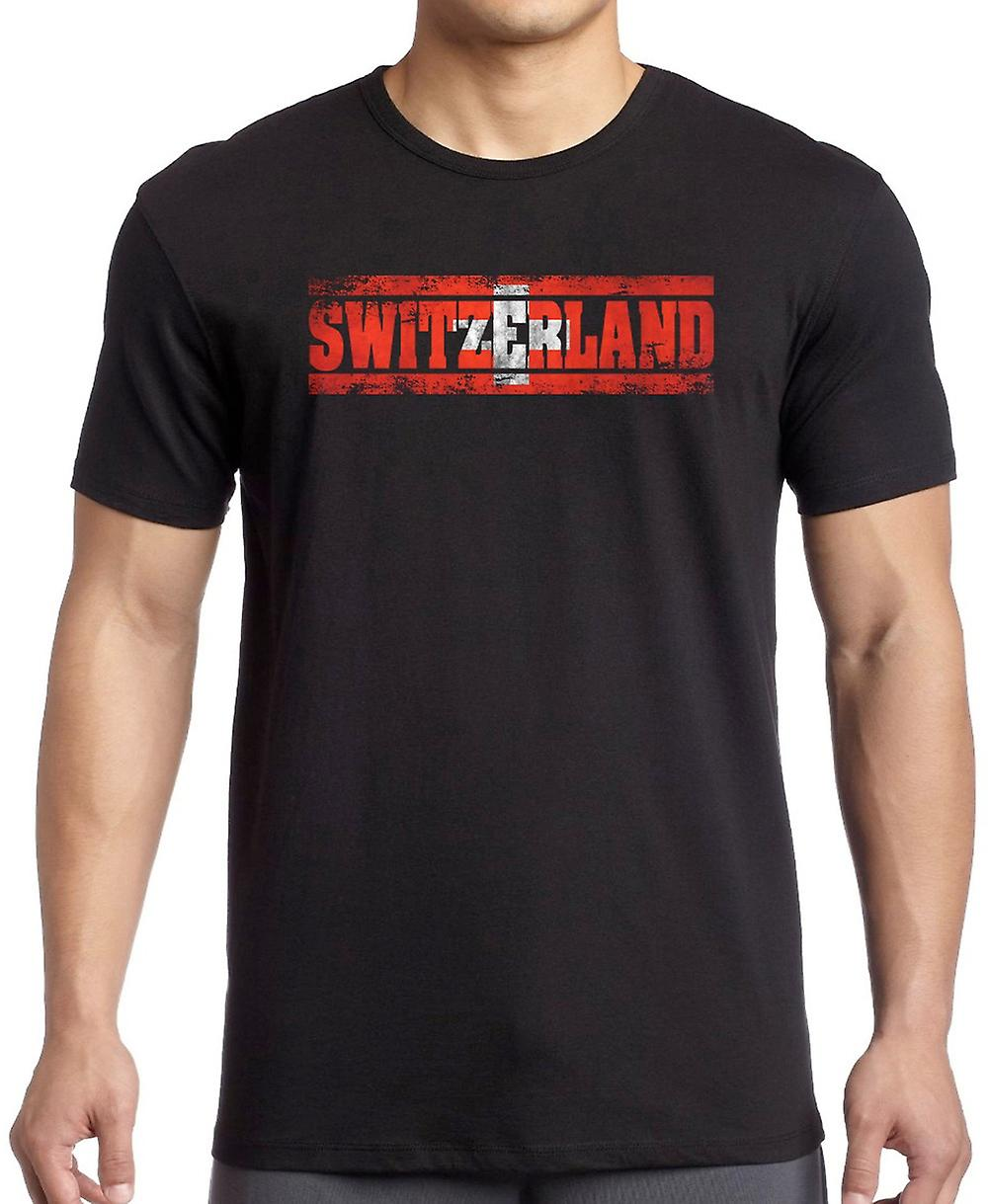 Switzerland Flag - Words Kids T Shirt