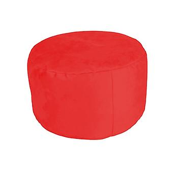 Stool seat stool Pouf round NOBLE red 34 x 47 x 47 cm