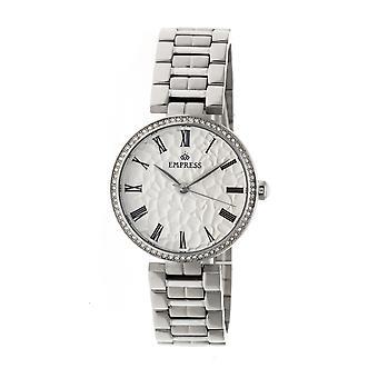 Keizerin Catharina automatische gehamerd Dial armband horloge - zilver