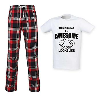 This Is What An Awesome Daddy Looks Like Tartan Pyjamas