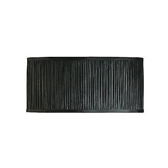 Kemp Oval 18 Zoll schwarz Organza zwei Licht-Schatten - Interiors 1900 CA1FNBSH
