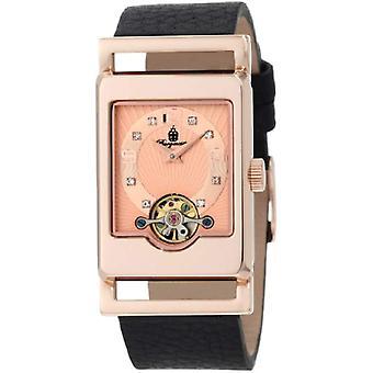 Burgmeister-wrist watch, black leather band