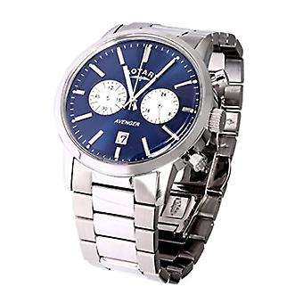Rotary GB02730/05 Watch wrist Chronograph, stainless steel band, silver