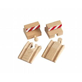 BRIO Stop and Ramp Tracks Wooden Toy