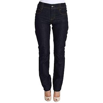 Galliano Blue Regular Fit Sequined Cotton Denim Jeans -- SIG3965253