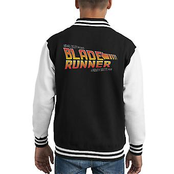 Blade Runner Back To The Future Mix Kid's Varsity Jacket