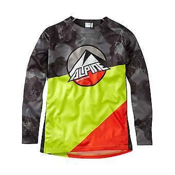Madison Camo-Krypton Kalk 2017 Alpine Kinder Langarm MTB Jersey