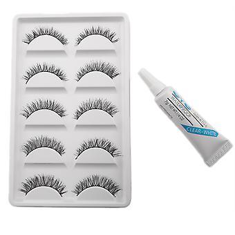 10pcs Luxurious long false eyelashes-Nellie + Glue