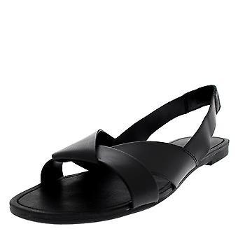 Womens Vagabond Tia Slingback leder zwart Open Teen Fashion sandalen