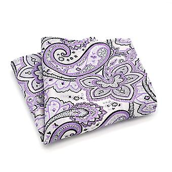 Purple & black floral paisley pattern pocket square