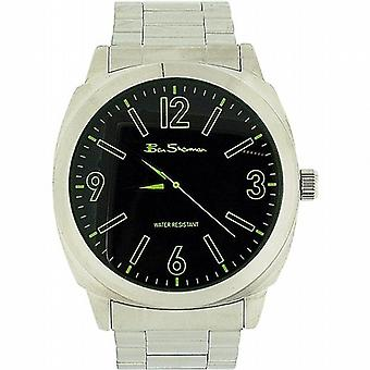 Ben Sherman Herren grün Dial Silberton Metall Armband Strap Dress Watch BS039