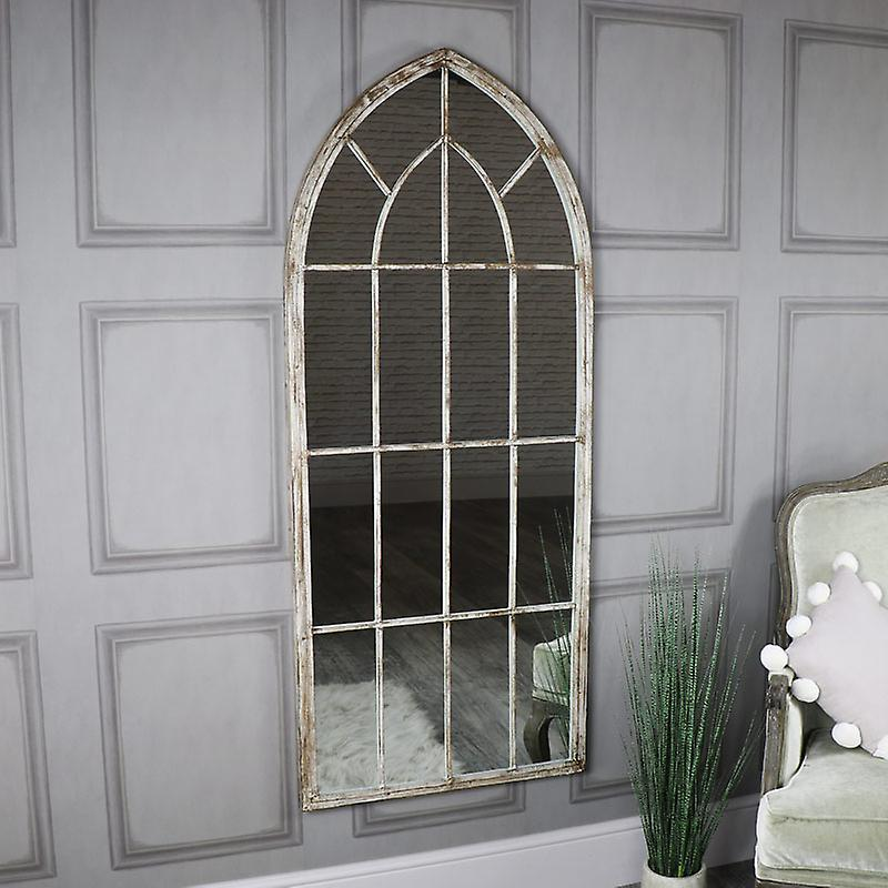 Extra grand Rustic Arched Window Mirror 67cm x 169cm