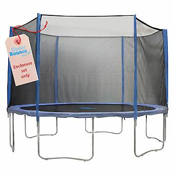 Upper Bounce 6 Pole Trampoline Enclosure Set to fit 10 FT. Trampoline Frames with set of 3 or 6 W-Shaped Legs (Trampoline Not Included)