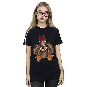 Disney Damen Minnie Mouse Thanksgiving Türkei Kostüm Freund Fit T-Shirt