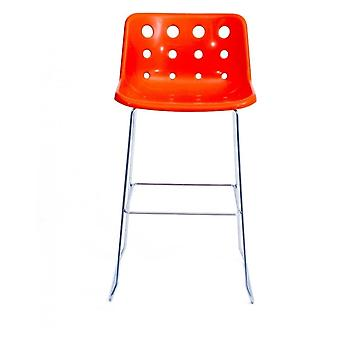 Loft Robin Day Skid fel oranje plastic Polo barkruk