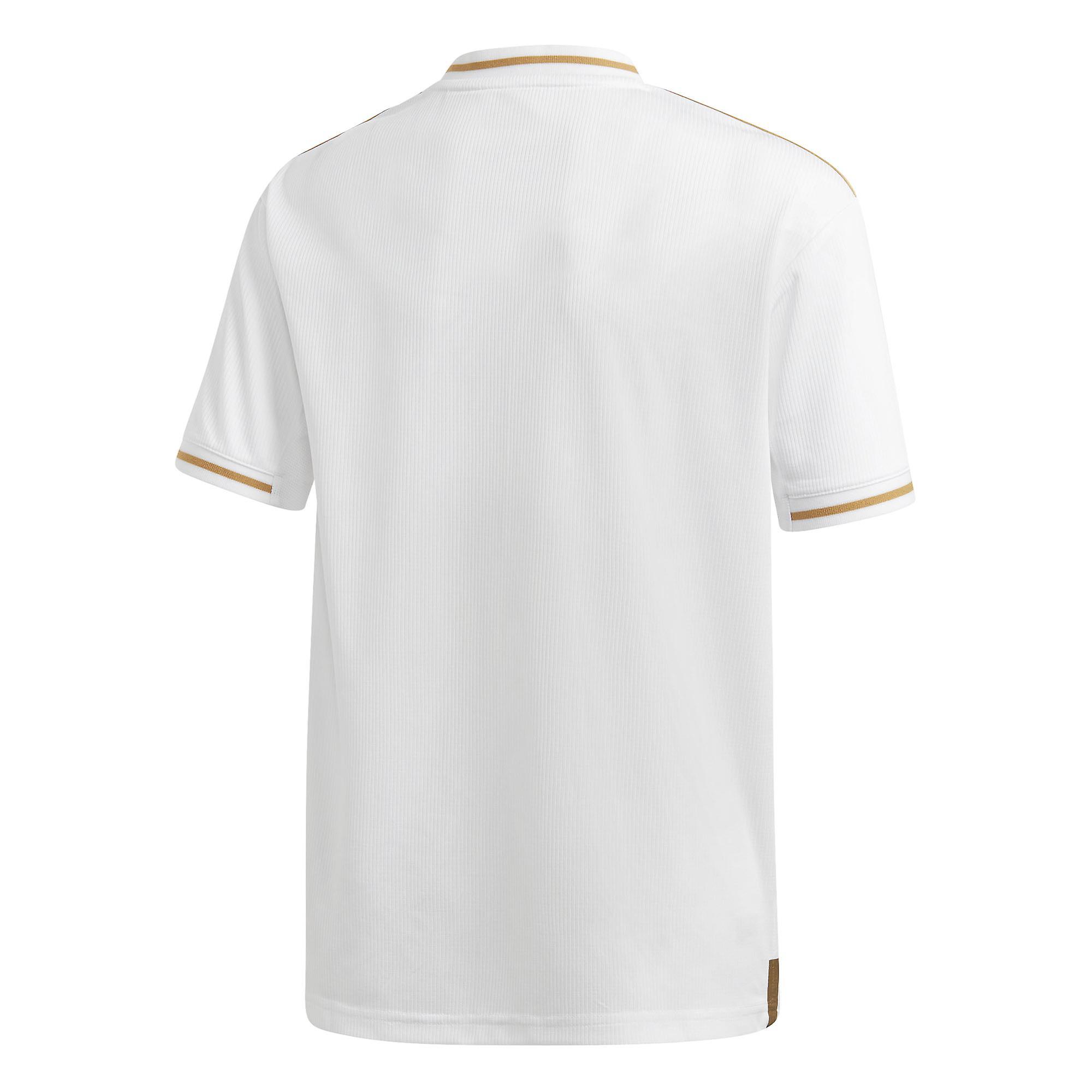 buy popular 29814 890bc adidas Real Madrid 2019/20 Kids Home Football Shirt Jersey White/Gold