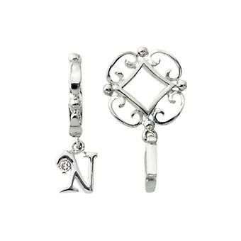 Storywheels Silver N Initial Dangle Charm S213D