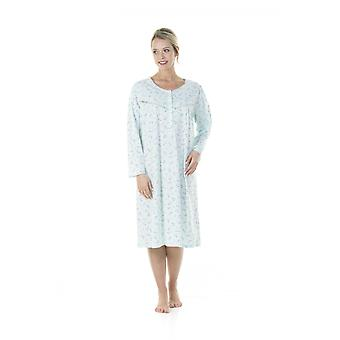 Camille Womens Classic Jersey Long Sleeve Nightdress