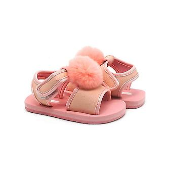 Fluffy baby pink sandals