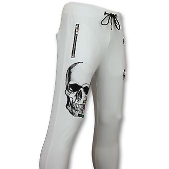 Herren Sport Hose-kaufen Sweatpants Color Skull-White