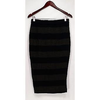 G.I.L.I. got it love it Skirt Twill Striped Pencil Charcoal Gray A268271
