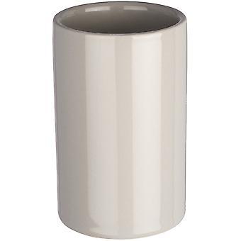 Wenko Ceramic tumbler Polaris pastelgrey (Bathroom accessories , Toothbrush holder)