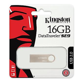 Pendrive Kingston FAELAP0171 DTSE9H 16 GB USB 2,0 zilver metaal