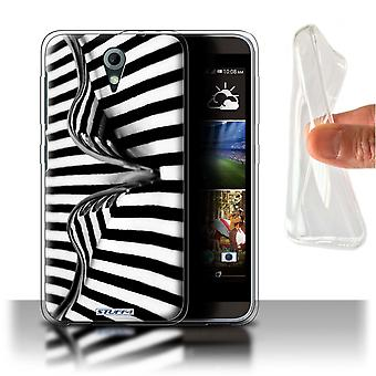 STUFF4 Gel/TPU Case/Cover voor HTC Desire 820 Mini/vork/strepen/Abstract Art