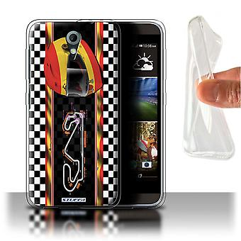 STUFF4 Gel/TPU Case/Cover für HTC Desire 820 Mini/Spanien/Katalonien/F1 Track Flag