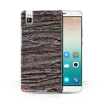 STUFF4 Case/Cover for Huawei Honor 7i/ShotX/Textured/Brown/Tree Bark