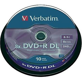 Blank DVD+R DL 8.5 GB Verbatim 43666 10 pc(s) Spindle