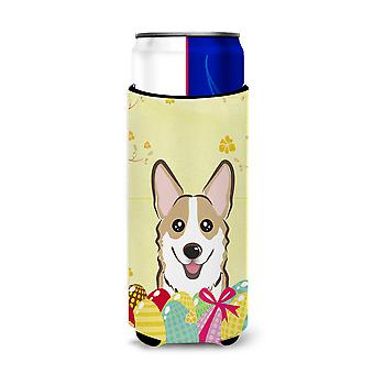 Sable Corgi Easter Egg Hunt Michelob Ultra Koozies for slim cans BB1935MUK
