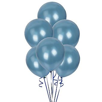 Pack of 5 Blue Pearlised 12? Balloons Party Decorations Birthday Anniversary