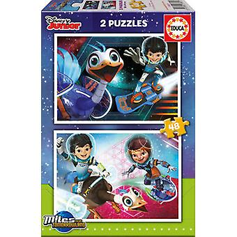 Educa Puzzle Miles From Tomorrowland 2x48 Pieces (Toys , Boardgames , Puzzles)