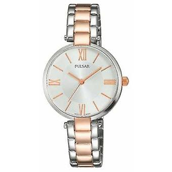 Pulsar Womens due tono in acciaio inox quadrante argento PH8242X1 Watch
