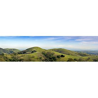 Carretera que conduce encima de una colina de California Estados UNIDOS Poster Print