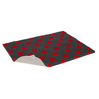 Skridsikre Vetbed kul med rød Polka Dot 101x76cm (40 x 30