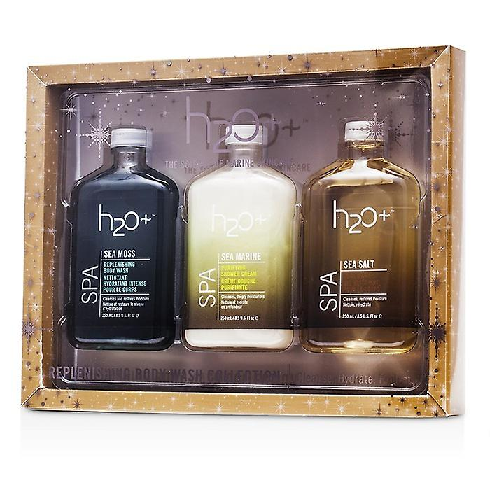 H2O+ Sea Moss Replenishing Body Wash Collection: Body Wash 250ml + Shower Cream 250ml + Replenishing Body Wash 250ml 3pcs