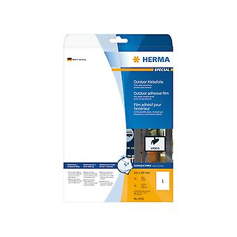Labels outdoor video white A4 210 x 297 HERMA LC 10pcs