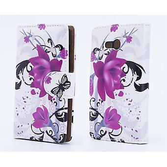 Design book per Alcatel Pixi 4 (5,5) - rosa viola