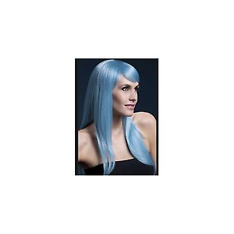 Smiffy's Fever Sienna Wig, 26inch/66cm, Pastel Blue