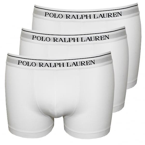 بولو رالف لورين بوكسر كلاسيك 3-حزمة جذوع، الأبيض مع البحرية
