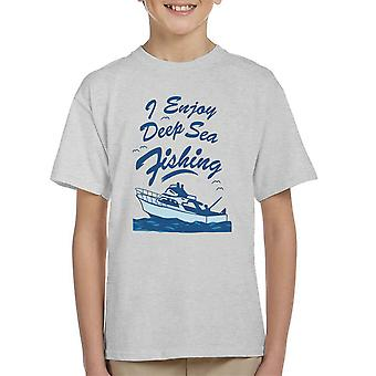 I Enjoy Deep Sea Fishing Kid's T-Shirt