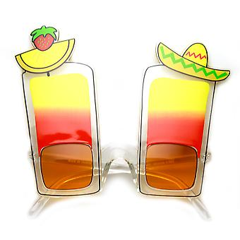 Fiesta Cinco De Mayo Tequila Sunrise drankje Party Novelty zonnebril