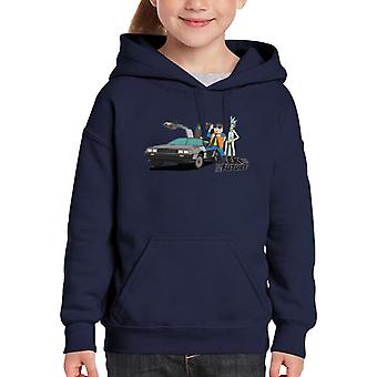 Rick To The Future Rick And Morty Kid's Hooded Sweatshirt