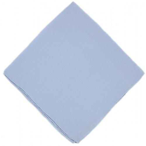 Michelsons of London Plain Silk Handkerchief - Light Blue