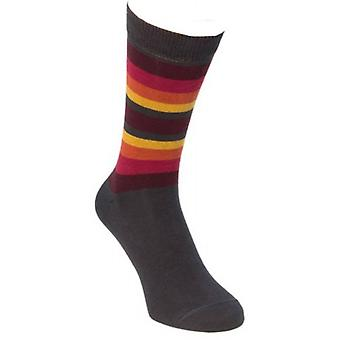 40 Colori Gradient Striped Socks - Charcoal