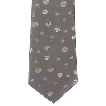 Michelsons London enkel blomma Silk Tie - Taupe