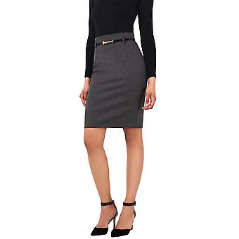 KRISP Belted Pencil Midi Skirt